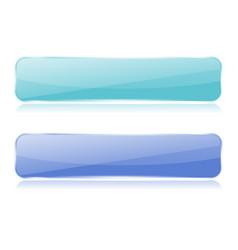 buttons glass blue web elements vector image