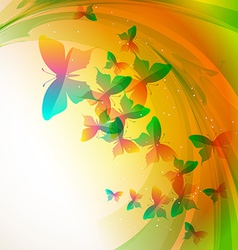 colorful buterfly vector image
