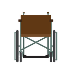 Invalid wheelchair front view isolated on a white vector