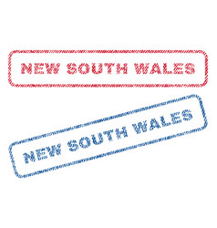 New south wales textile stamps vector