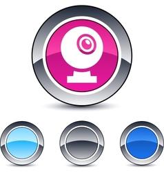 webcam round button vector image