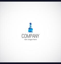 wine bottle company logo vector image vector image