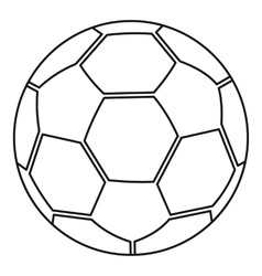 Ball icon outline style vector image
