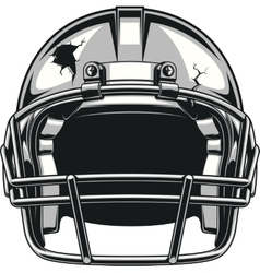Helmet for playing football vector image