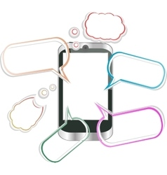 Modern mobile smart phone Sending and Receiving vector image