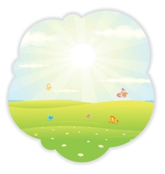 Sunny Summer vector image vector image