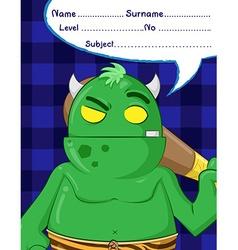 troll demon cartoons vector image vector image