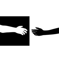 two hands vector image vector image