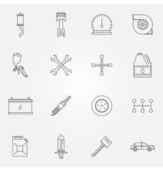 Auto service or repair icons vector image