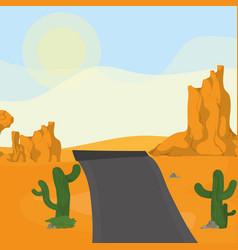 highway on the desert vector image