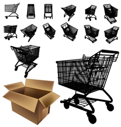 shopping cart silhouette vector image vector image