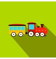 Train in amusement park flat icon vector