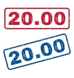 2000 Rubber Stamps vector image