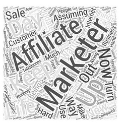 A day In The Life Of An Affiliate Marketer Word vector image