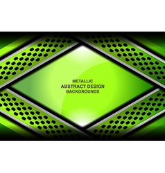 Abstract background green metallic vector