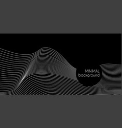 Abstract minimal background with wavy lines vector