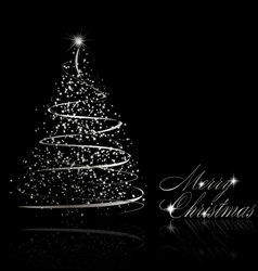 abstract silver christmas tree vector image