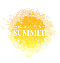 Abstract watercolor sunny summer grunge background vector