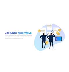 Accounts receivable money financial management vector