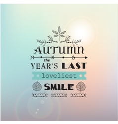 Autumn typography poster vector