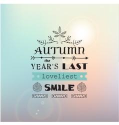 Autumn typography poster vector