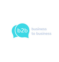 B2b business to business logo vector