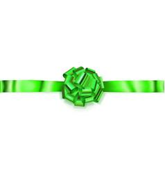 big horizontal bow of shiny ribbon vector image