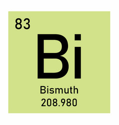 Bismuth chemical symbol vector