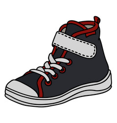 black childrens sneaker vector image