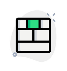 Bottom bar and upper tile section bar vector