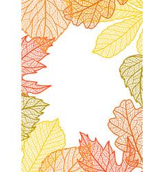 Card with autumn foliage vector