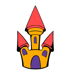 Castle icon cartoon vector