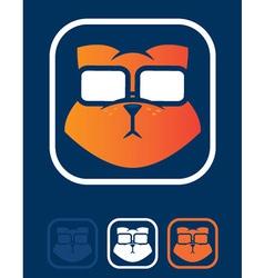 cat geek vector image