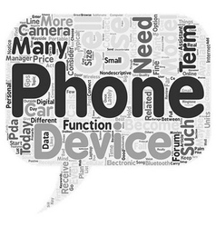 Cell Phone or PDA text background wordcloud vector