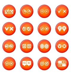 Check mark icons set vector