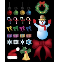 christmas kit vector image vector image