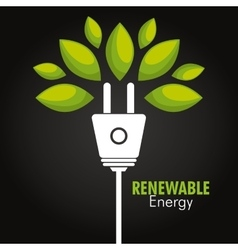 clean energy design vector image