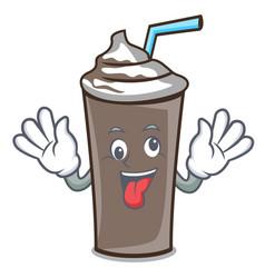 crazy ice chocolate mascot cartoon vector image