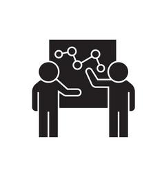 discussion of profits black concept icon vector image
