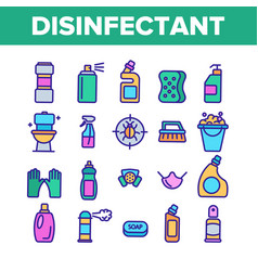 Disinfectant antibacterial substance color vector