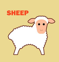 Farm animal sheep simple vector