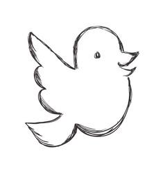 Figure dove of twitter icon design vector