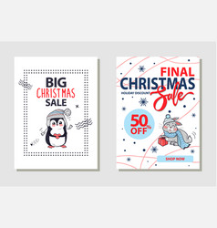 Final christmas sale banner on vector