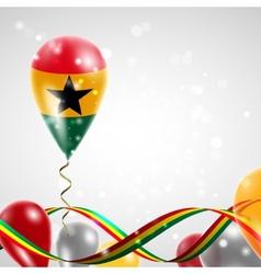 Flag of Ghana on balloon vector