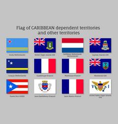 Flags caribbean dependent territories vector