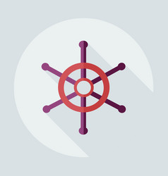 Flat modern design with shadow icons wheel vector