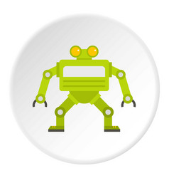 Green automatic mechanism icon circle vector
