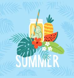 Hand drawn summer greeting card invitation vector