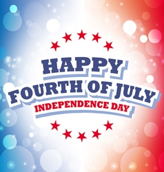 Happy fourth july america greeting card vector