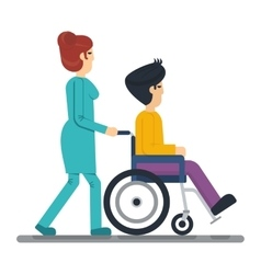 Health care man in wheelchair vector